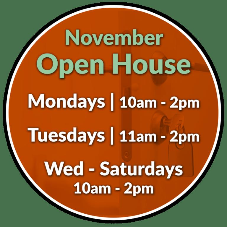 November Open Houses